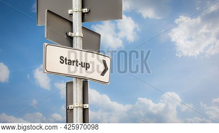 Street Sign The Direction Way To Start-up