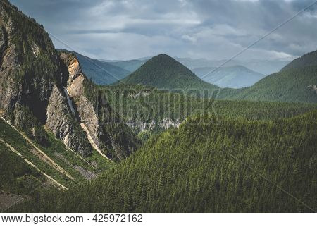 Spectacular Stevens  Canyon. This Spectacular Viewpoint Can Be Found Within Mt Rainier National Park