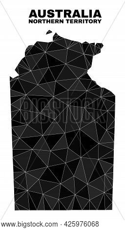Low-poly Australian Northern Territory Map. Polygonal Australian Northern Territory Map Vector Is Co