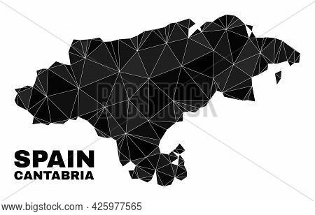 Low-poly Cantabria Province Map. Polygonal Cantabria Province Map Vector Filled From Scattered Trian
