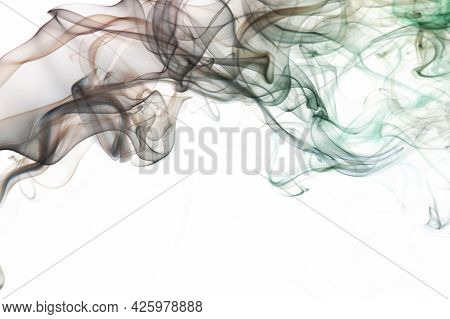 Transparent Brown Abstract Smoke Lines