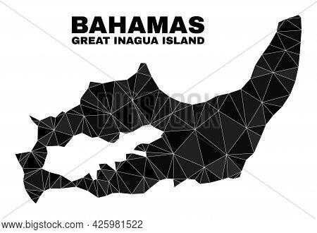 Lowpoly Great Inagua Island Map. Polygonal Great Inagua Island Map Vector Combined With Randomized T