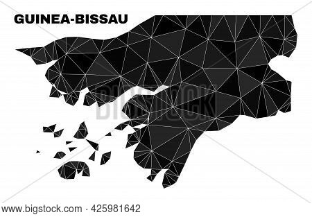 Lowpoly Guinea-bissau Map. Polygonal Guinea-bissau Map Vector Is Combined Of Randomized Triangles. T