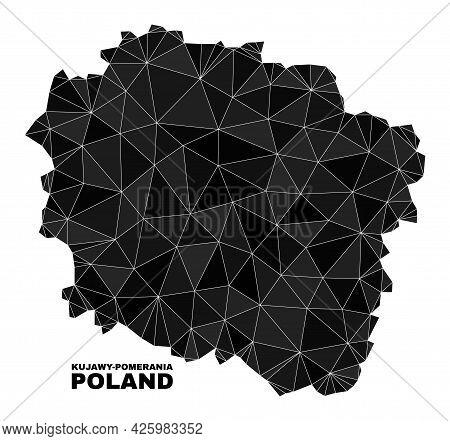 Low-poly Kujawy-pomerania Province Map. Polygonal Kujawy-pomerania Province Map Vector Designed With