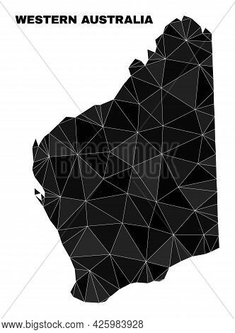 Low-poly Western Australia Map. Polygonal Western Australia Map Vector Filled With Chaotic Triangles