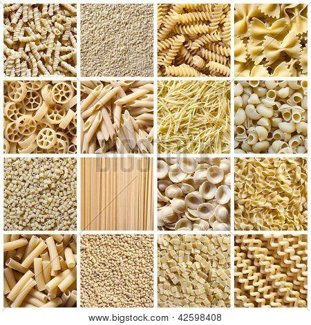 Italian Pasta - Collage
