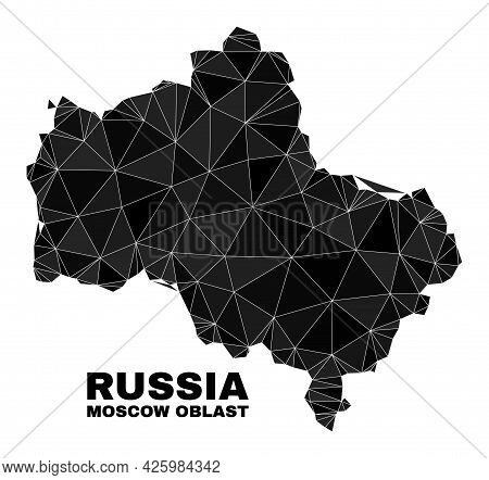 Low-poly Moscow Region Map. Polygonal Moscow Region Map Vector Designed With Random Triangles. Trian