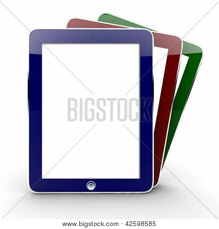 Three Colorful Tablets