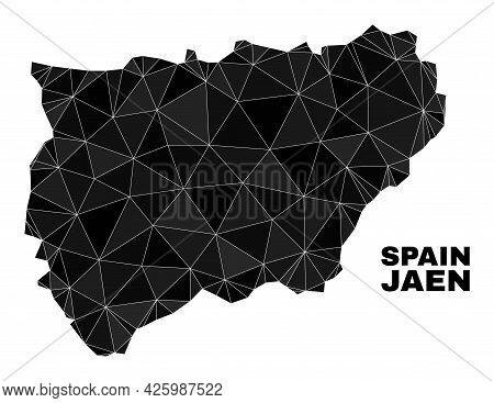 Lowpoly Jaen Spanish Province Map. Polygonal Jaen Spanish Province Map Vector Is Combined From Rando