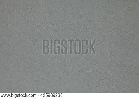 Gray Wall, Texture, Background. The Building Wall, Painted With Water-based Paint. Smooth (flat) Sur