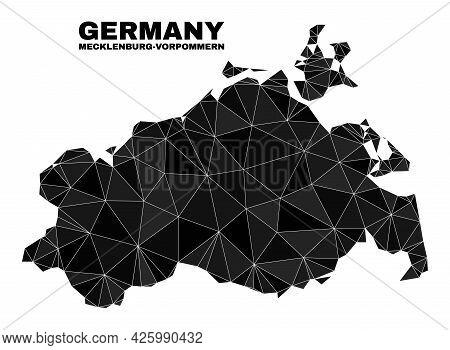Low-poly Mecklenburg-vorpommern Land Map. Polygonal Mecklenburg-vorpommern Land Map Vector Construct