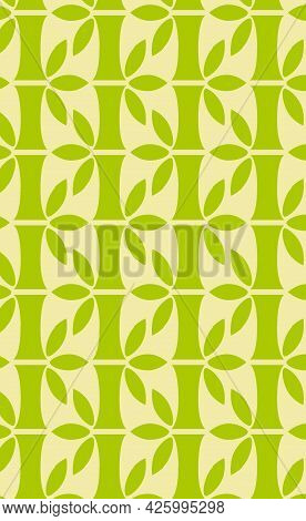 Seamless Vertical Pattern, Realistic Bamboo Stems - Vector Illustration