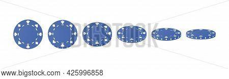 Gambling Game, Casino 3d Chips. Rotating Poker Chips