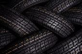 tire texture background close up dark picture. poster