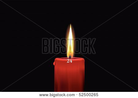 Red Advent Candle - December 24Th