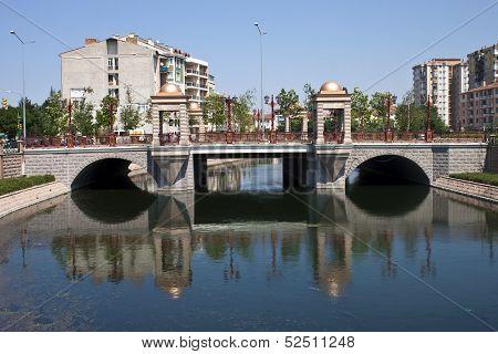 River in city of Eskisehir