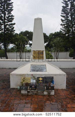 Monument of fallen French soldiers in Dien Bien Phu