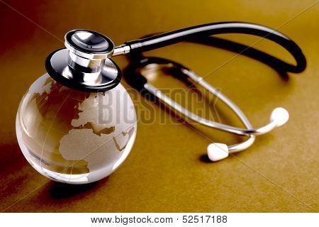 Stethoscope And Crystal Globe