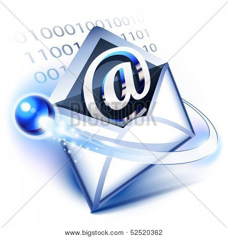 Email concept of digital correspondence