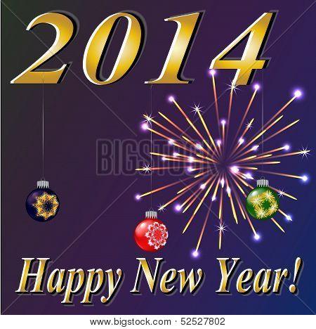 Happy New 2014 Year! Vector