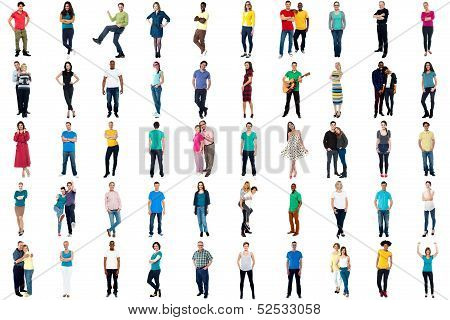Collection Of Full Length Diversified People