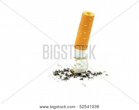 Cigarette butts. Stop smoking concept.