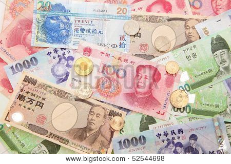 Background Of Asian Currency