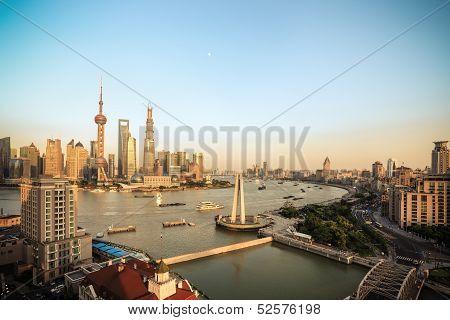 Beautiful Shanghai At Dusk