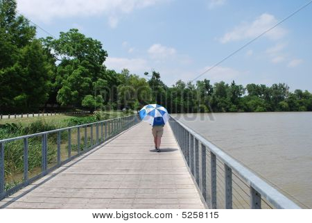 Umbrellaman am boardwalk