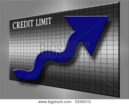 Credit Limit And Blue Arrow