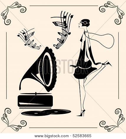 vintage dancing lady