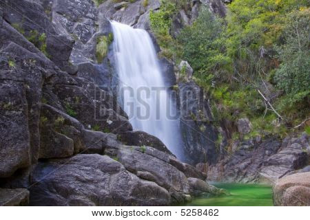 Waterfall In The Portuguese Primorye Reserve