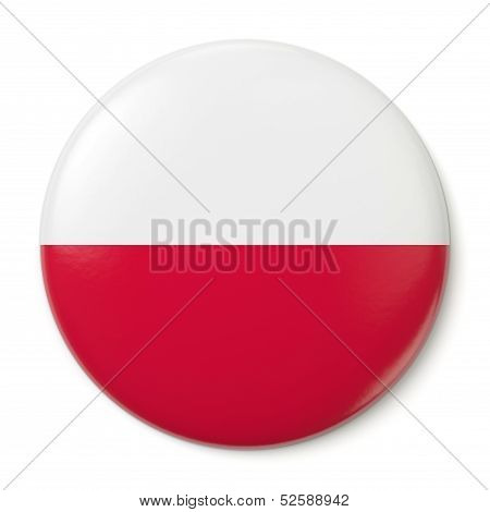 Poland Pin-back