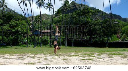 Handstanding Leahi Park