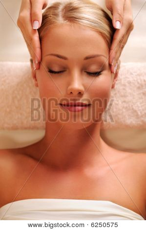 Massaging Temples For Young Beautiful Female