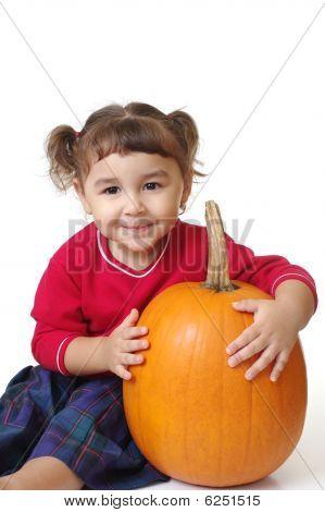 Girl With A Pumpkin