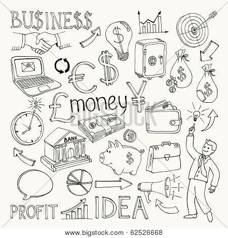 Business doodles, hand doodle