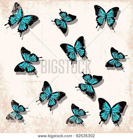 Vintage Butterfly Backgrounnd