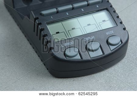 Smart battery charger with lcd display