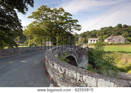 Old Stone Bridge In Welsh Countryside