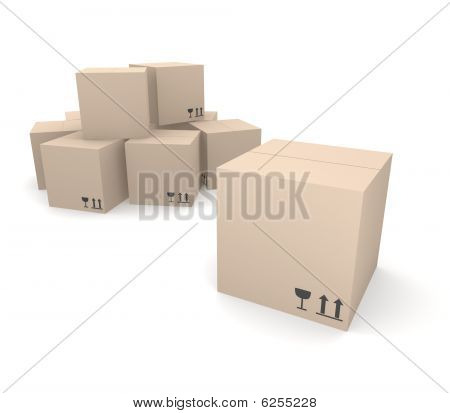 Pile of cardboard boxes