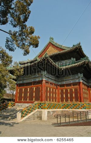 Chinese Traditional Style Pavilion In Beihai Park, Beijing.