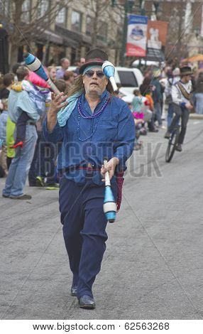 Asheville Mardi Gras Parade Juggler