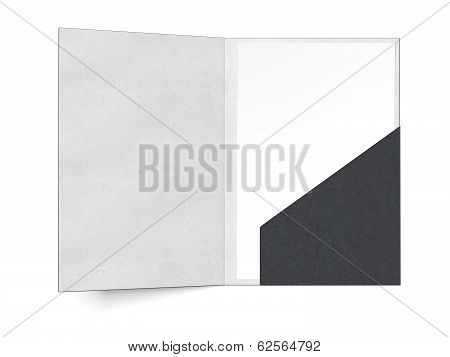 black folder with a sheet