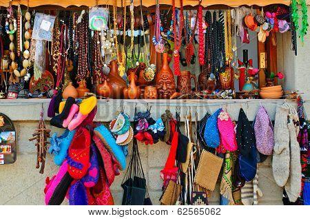 Souvenirs at market