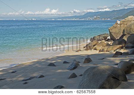 Banderas Bay By Mexican Pacific Ocean