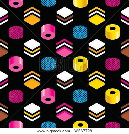 Seamless Liquorice Background Pattern Texture
