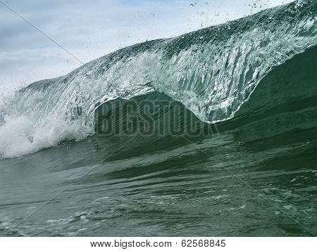 Beautiful Blue Sea Wave. Vietnam.