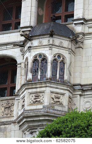 Renaissance facade at the castle of Blois. LoireValley France