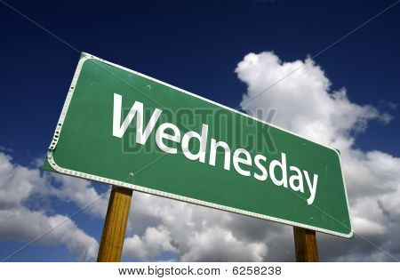 Wednesday Green Road Sign